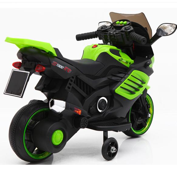 Motocicleta electrica 6V cu roti ajutatoare Nichiduta X-Race Green