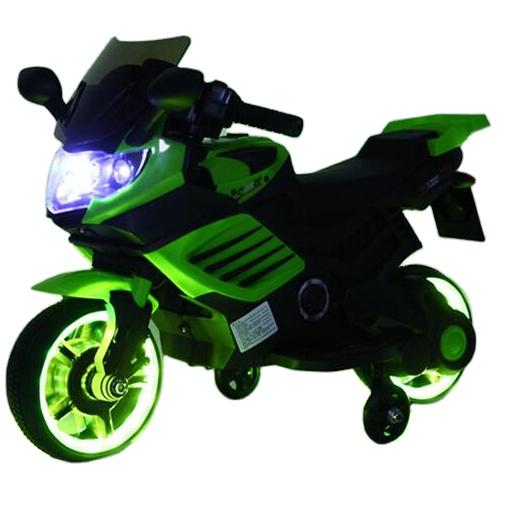 Motocicleta electrica 6V cu roti ajutatoare Nichiduta X-Race Green - 1