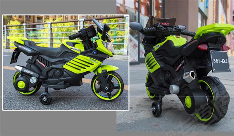 Motocicleta electrica 6V cu roti ajutatoare Nichiduta X-Race Green - 2