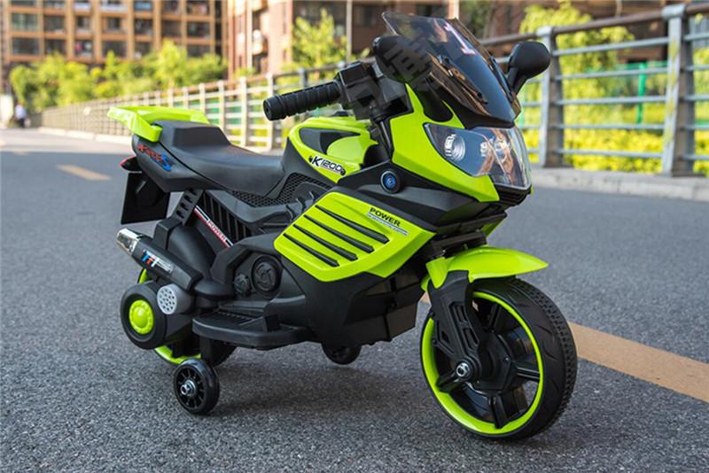 Motocicleta electrica 6V cu roti ajutatoare Nichiduta X-Race Green - 3