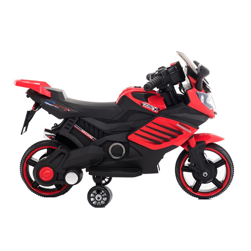 Motocicleta electrica 6V cu roti ajutatoare Nichiduta X-Race Red