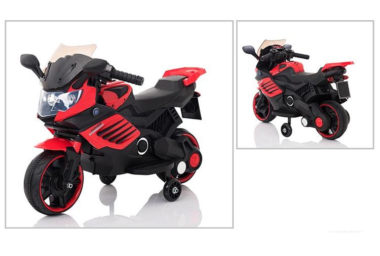 Motocicleta electrica 6V cu roti ajutatoare Nichiduta X-Race Red - 1