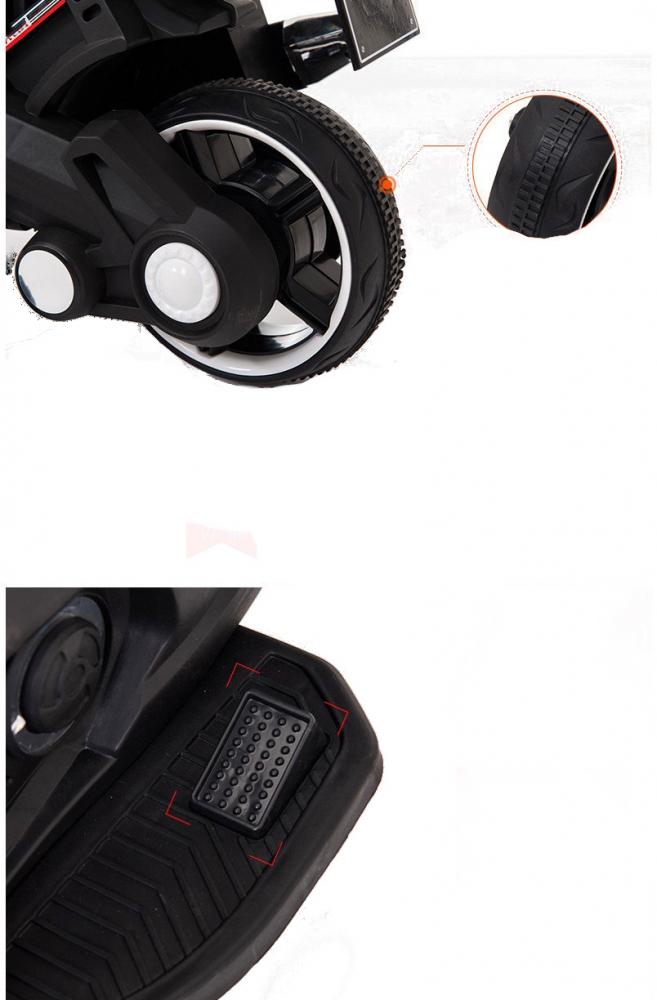 Motocicleta electrica 6V cu roti ajutatoare Nichiduta X-Race Red - 2