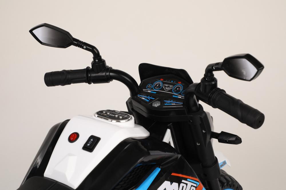 Motocicleta electrica 12V Nichiduta Moto White - 7