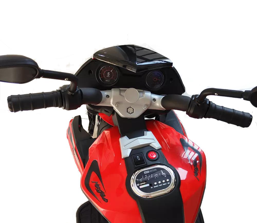 Motocicleta electrica cu doua motoare Nichiduta Moto Speed Red - 2