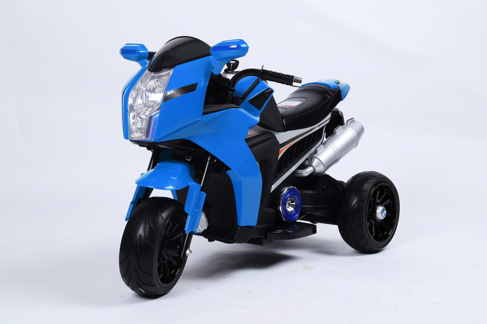 Motocicleta electrica cu lumini Flash True Blue
