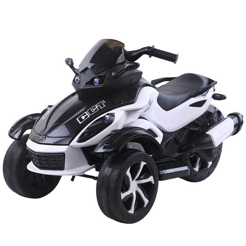 Motocicleta electrica cu lumini Nichiduta Gallop White - 2