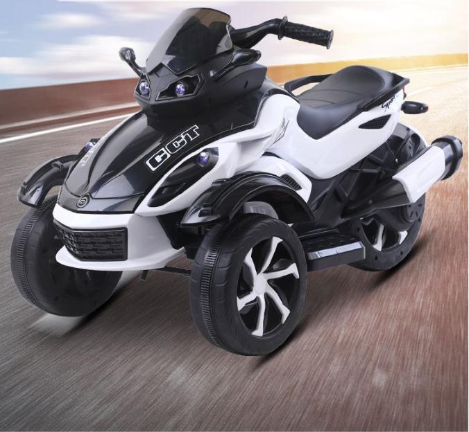 Motocicleta electrica cu lumini Nichiduta Gallop White - 1