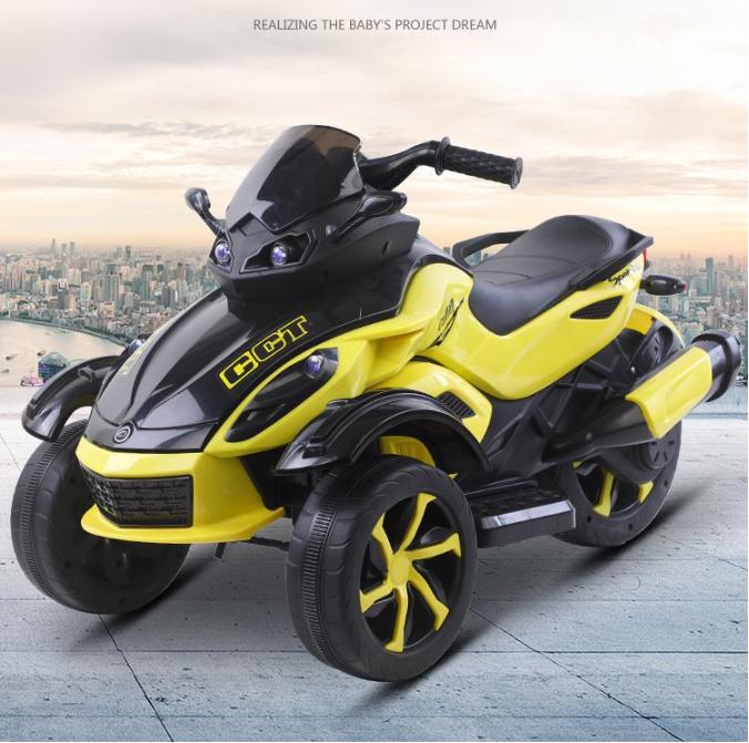Motocicleta electrica cu lumini Nichiduta Gallop Yellow