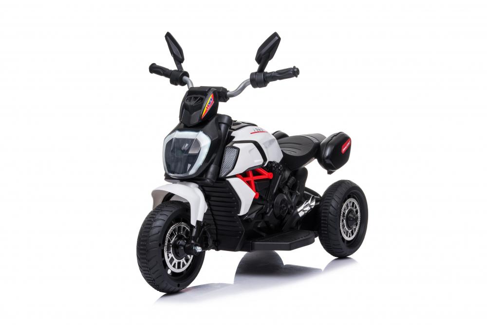 Motocicleta electrica cu lumini Nichiduta Kids Racing White - 2