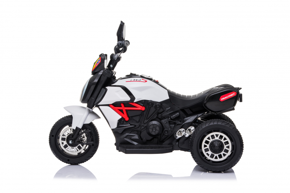 Motocicleta electrica cu lumini Nichiduta Kids Racing White - 3