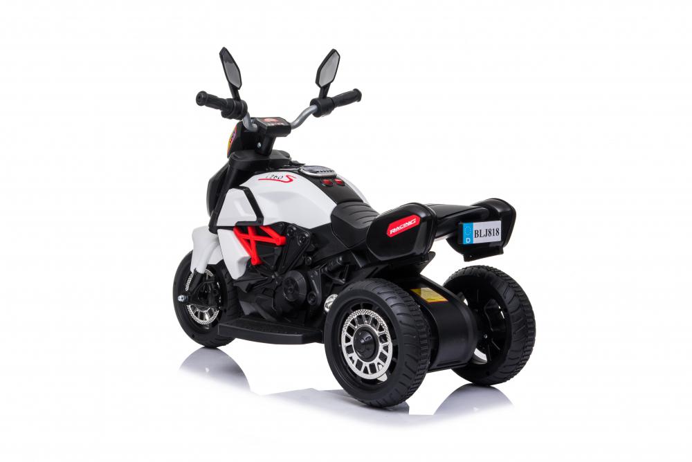 Motocicleta electrica cu lumini Nichiduta Kids Racing White - 4