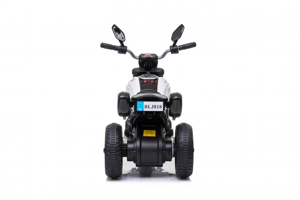 Motocicleta electrica cu lumini Nichiduta Kids Racing White - 5