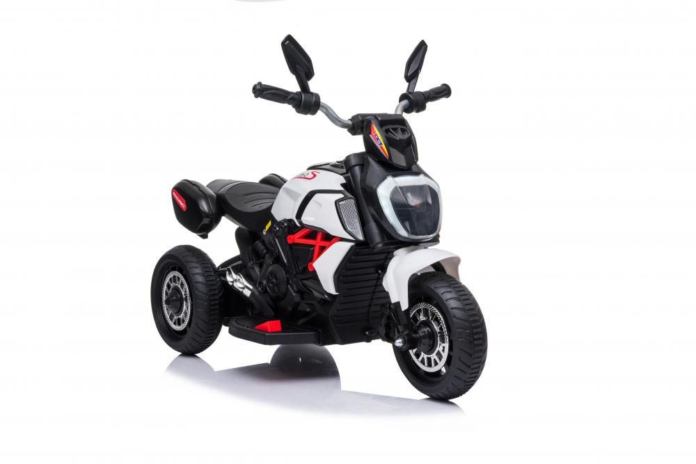 Motocicleta electrica cu lumini Nichiduta Kids Racing White - 6