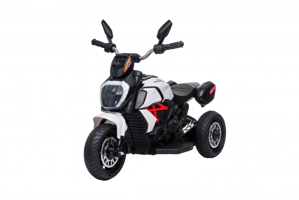 Motocicleta electrica cu lumini Nichiduta Kids Racing White - 7
