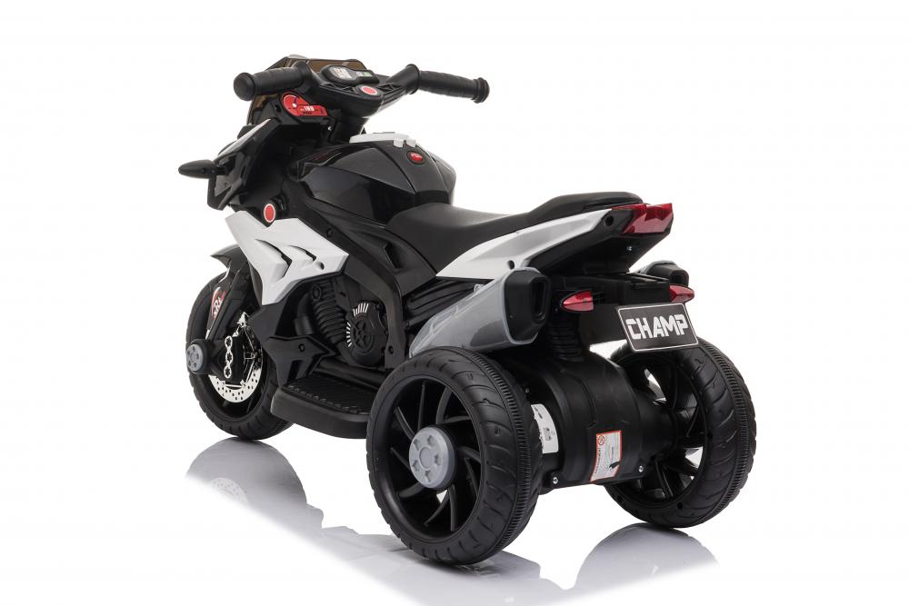Motocicleta electrica cu roti din cauciuc EVA Nichiduta Champ Black - 3