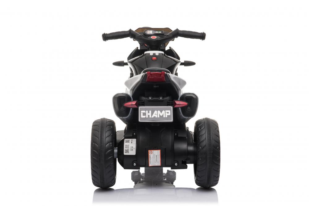 Motocicleta electrica cu roti din cauciuc EVA Nichiduta Champ Black - 4