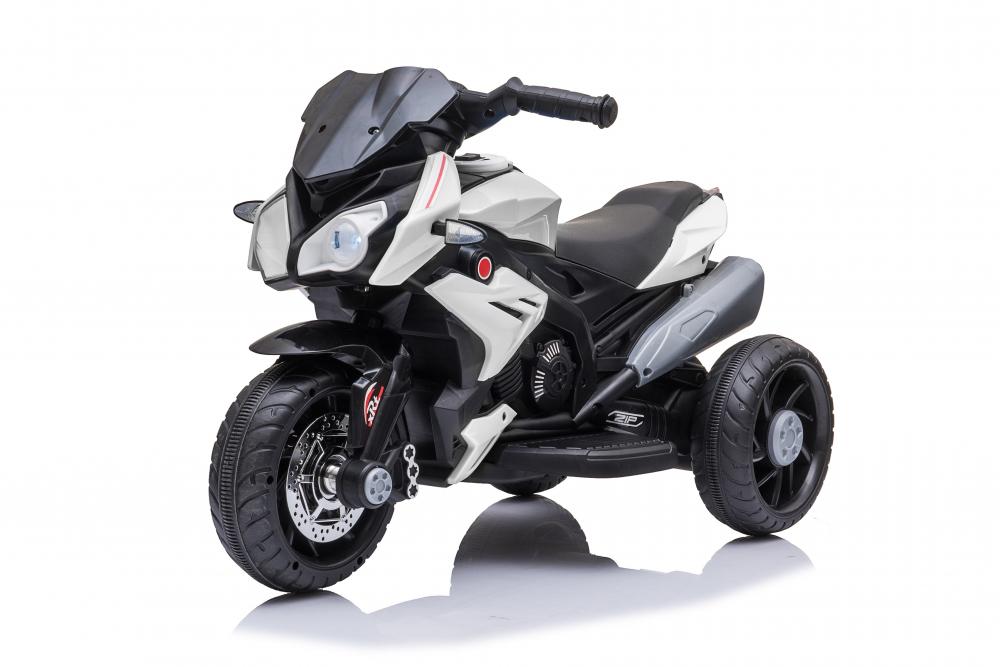 Motocicleta electrica cu roti din cauciuc EVA Nichiduta Champ White