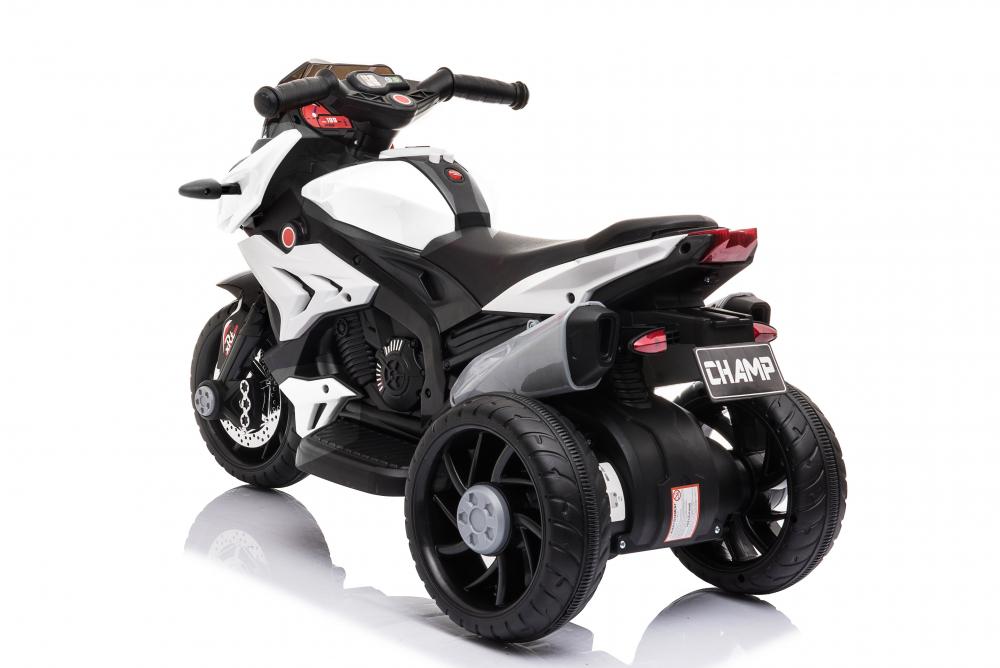 Motocicleta electrica cu roti din cauciuc EVA Nichiduta Champ White - 1