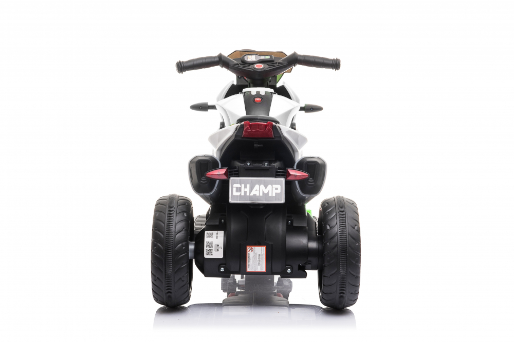 Motocicleta electrica cu roti din cauciuc EVA Nichiduta Champ White - 2