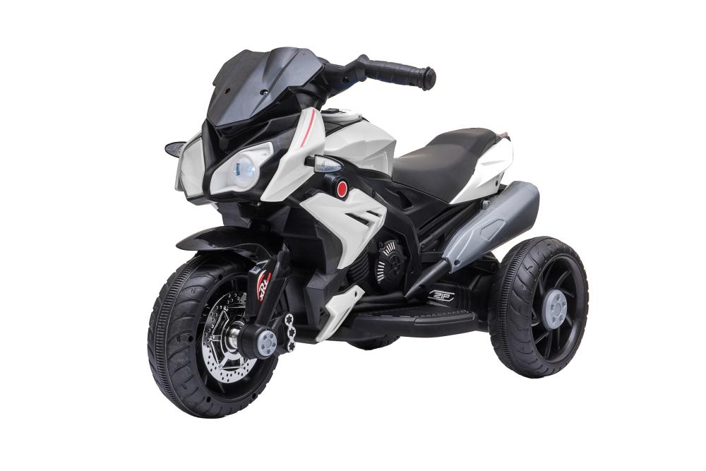 Motocicleta electrica cu roti din cauciuc EVA Nichiduta Champ White - 4