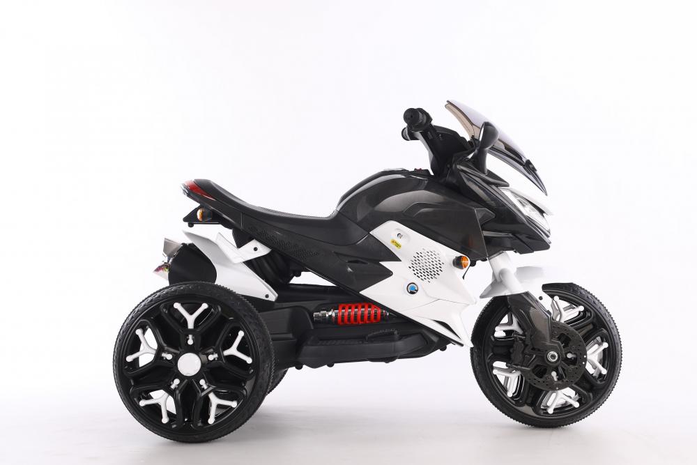 Motocicleta electrica cu scaun din piele Nichiduta Race White