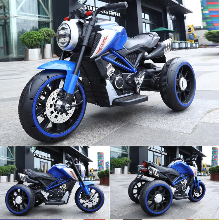 Motocicleta electrica cu scaun din piele Nichiduta Steel Blue