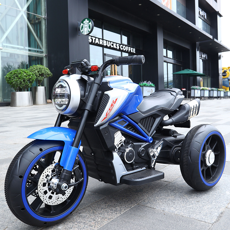 Motocicleta electrica cu scaun din piele Nichiduta Steel Blue - 1