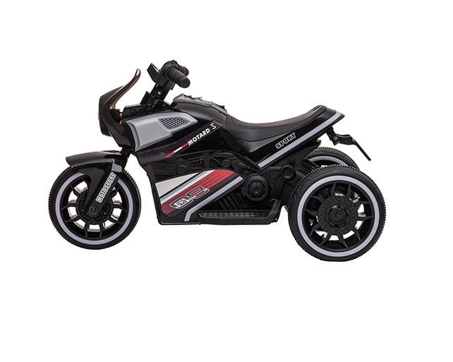 Motocicleta electrica cu scaun din piele si roti EVA Nichiduta Moto Black