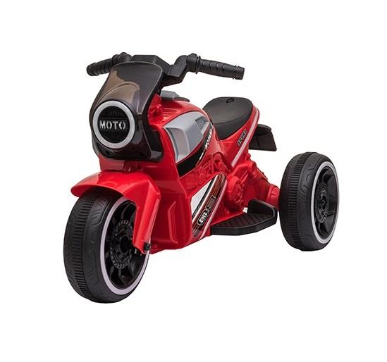 Motocicleta electrica cu scaun din piele si roti EVA Nichiduta Moto Red - 3