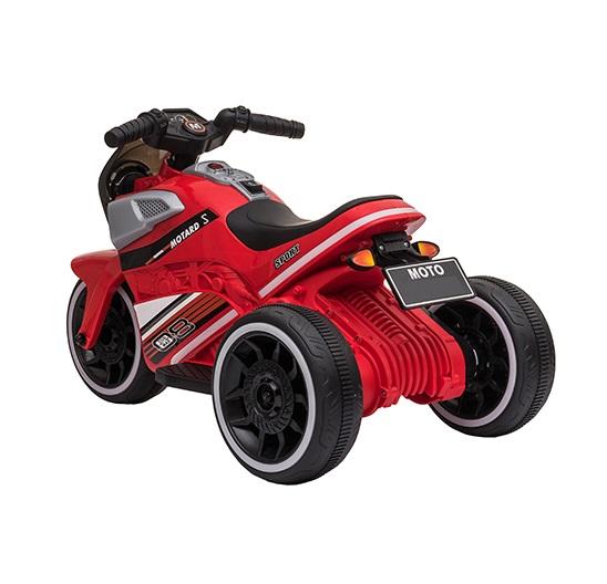Motocicleta electrica cu scaun din piele si roti EVA Nichiduta Moto Red