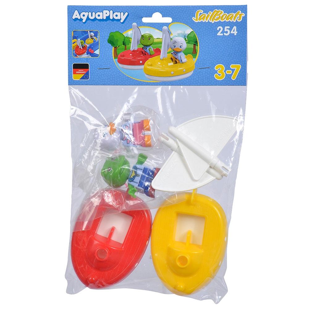 Set AquaPlay 2 barci cu panza si 2 figurine