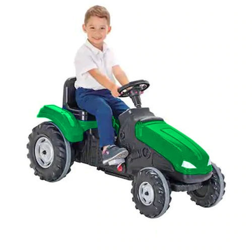Tractor cu pedale si remorca Pilsan Mega verde - 2