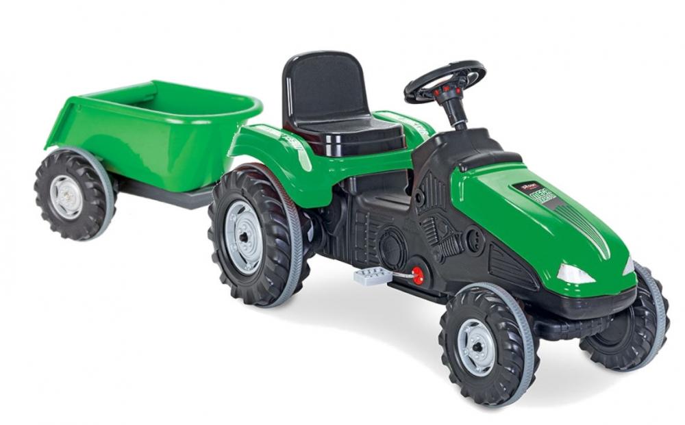 Tractor cu pedale si remorca Pilsan Mega verde - 4