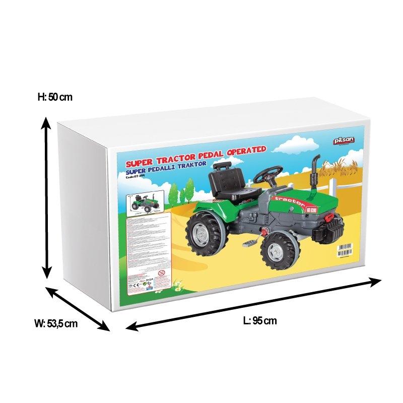 Tractor cu pedale si remorca Pilsan Super verde - 1