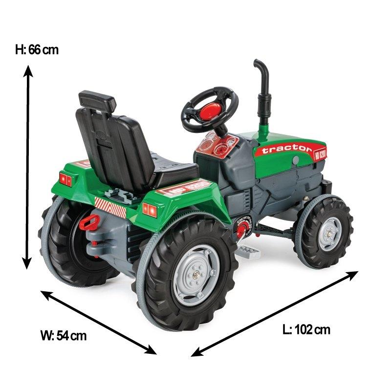 Tractor cu pedale si remorca Pilsan Super verde - 2