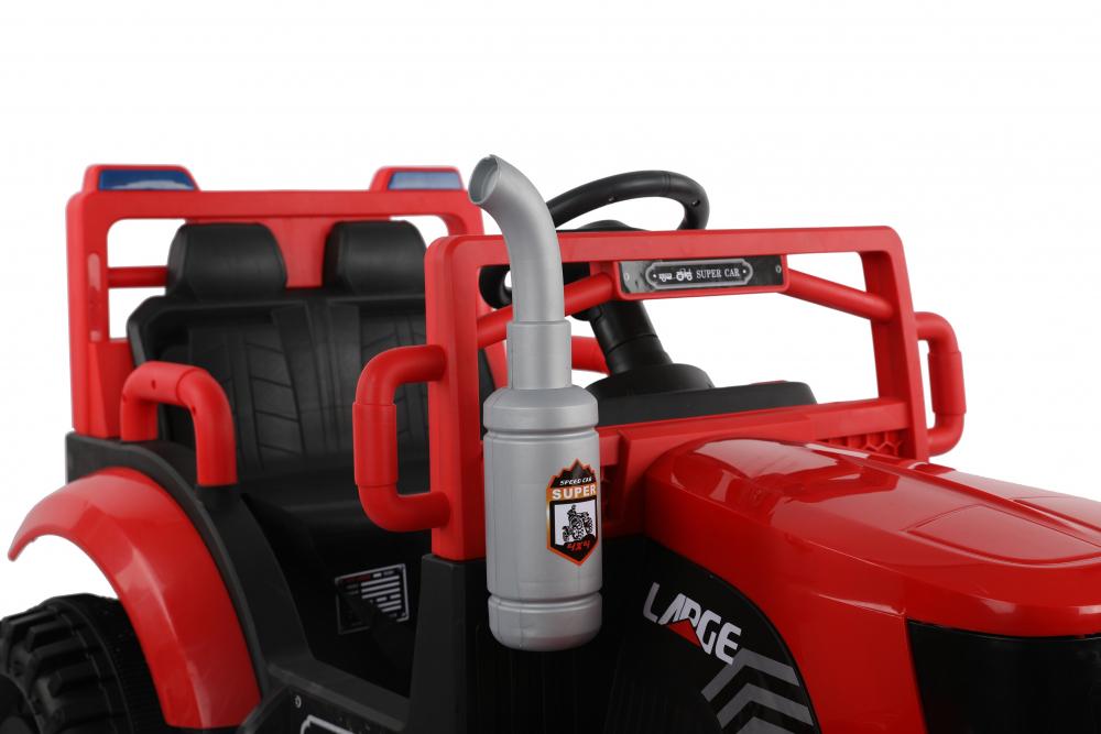 Tractor electric cu remorca si telecomanda Nichiduta Country Red - 1