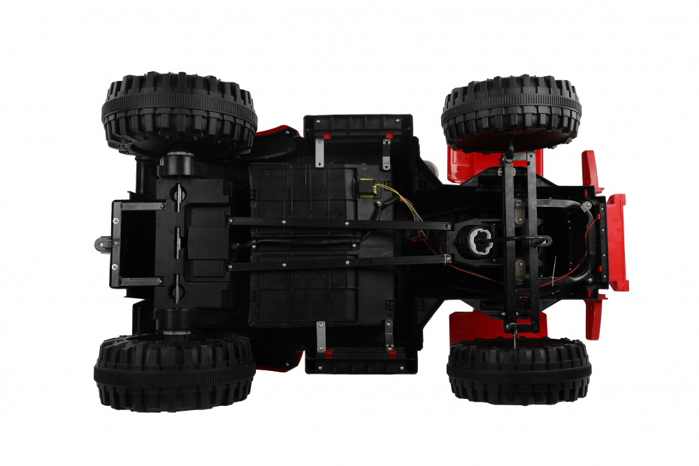 Tractor electric cu remorca si telecomanda Nichiduta Country Red - 2