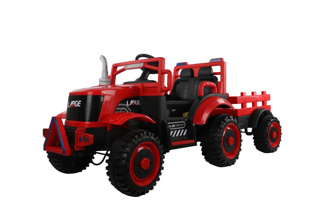 Tractor electric cu remorca si telecomanda Nichiduta Country Red - 10