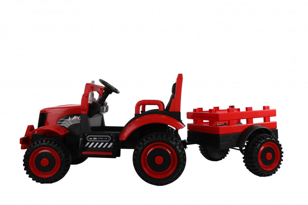 Tractor electric cu remorca si telecomanda Nichiduta Country Red - 3