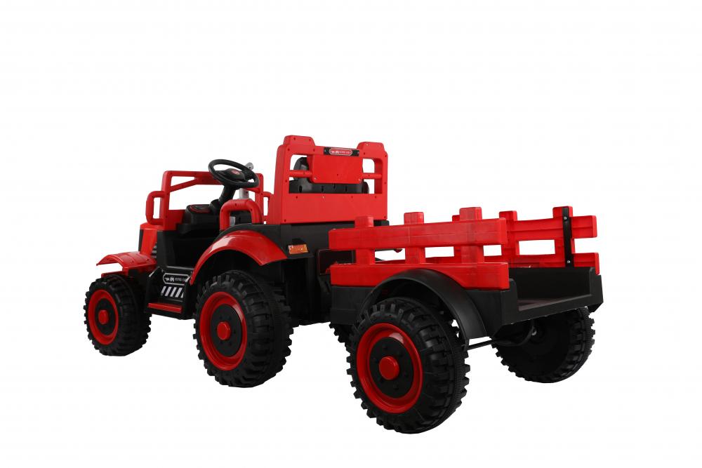 Tractor electric cu remorca si telecomanda Nichiduta Country Red - 4