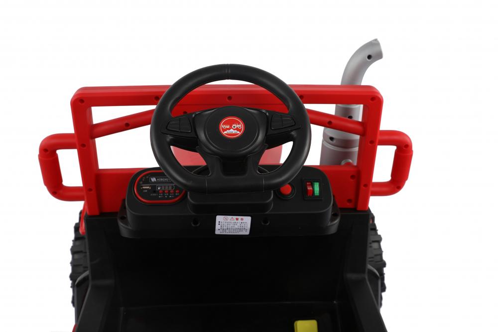 Tractor electric cu remorca si telecomanda Nichiduta Country Red - 5