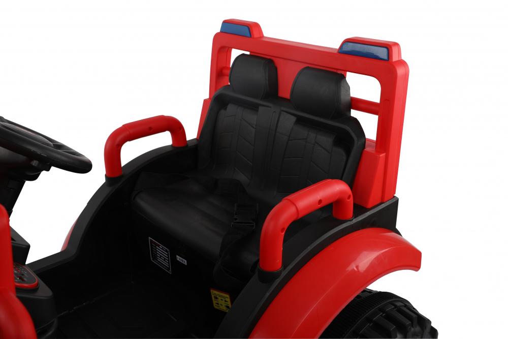 Tractor electric cu remorca si telecomanda Nichiduta Country Red - 7