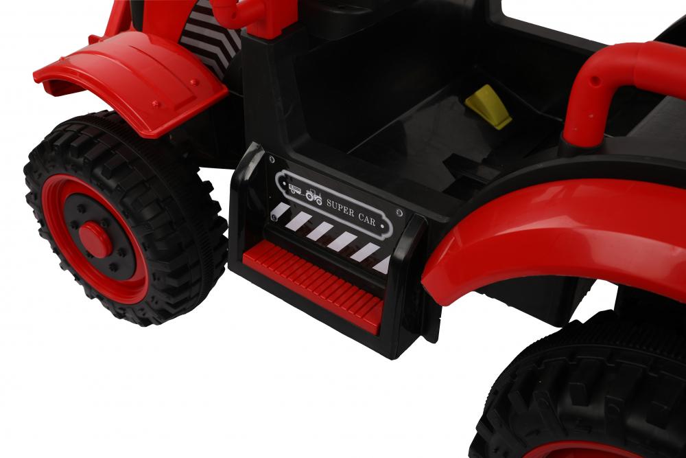 Tractor electric cu remorca si telecomanda Nichiduta Country Red - 8