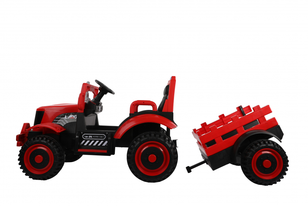 Tractor electric cu remorca si telecomanda Nichiduta Country Red - 9