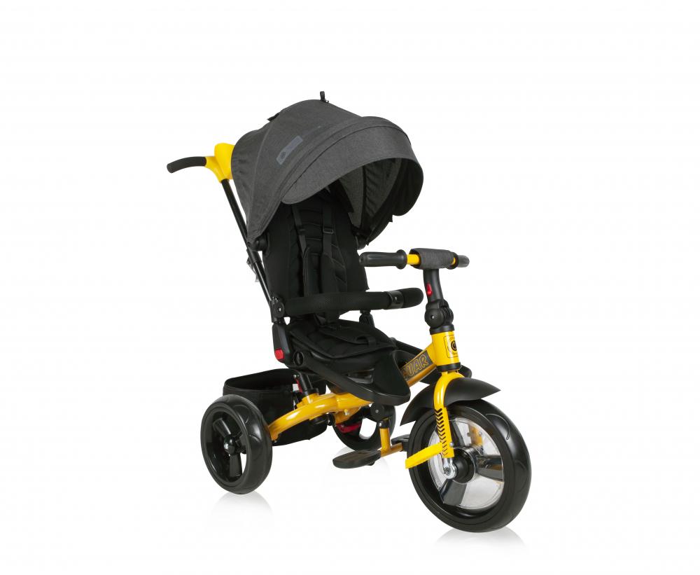 Tricicleta multifunctionala 4 in 1 Jaguar Black Yellow