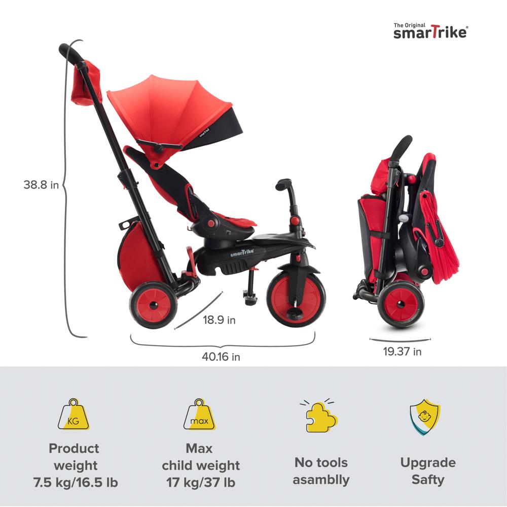 Tricicleta pliabila Smart Trike 7 in 1 STR7 rosu