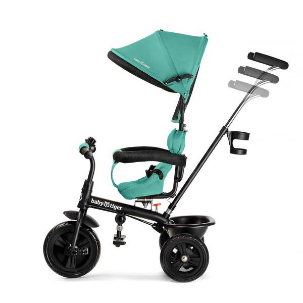 Tricicleta rotativa 4 in 1 Fly Green
