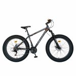 Bicicleta MTB-Fat Bike Shimano Revoshift Tourney 21 viteze 26 inch CSV26/19B gri/portocaliu