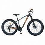 Bicicleta MTB-Fat Bike Shimano SL-TX30 26 inch Carpat Aventus CSC26/00H negru/portocaliu/albastru